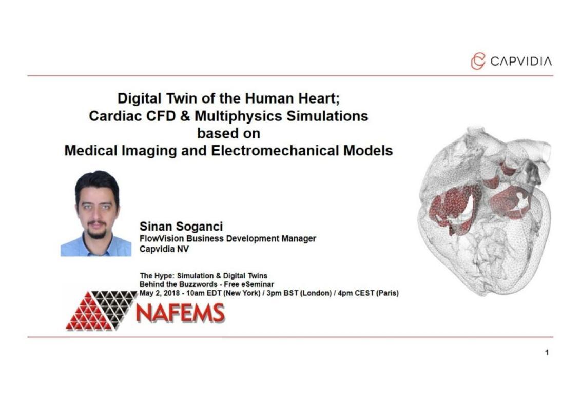 Digital Twin of the Human Heart Cardiac CFD and Multiphysics Simulatios