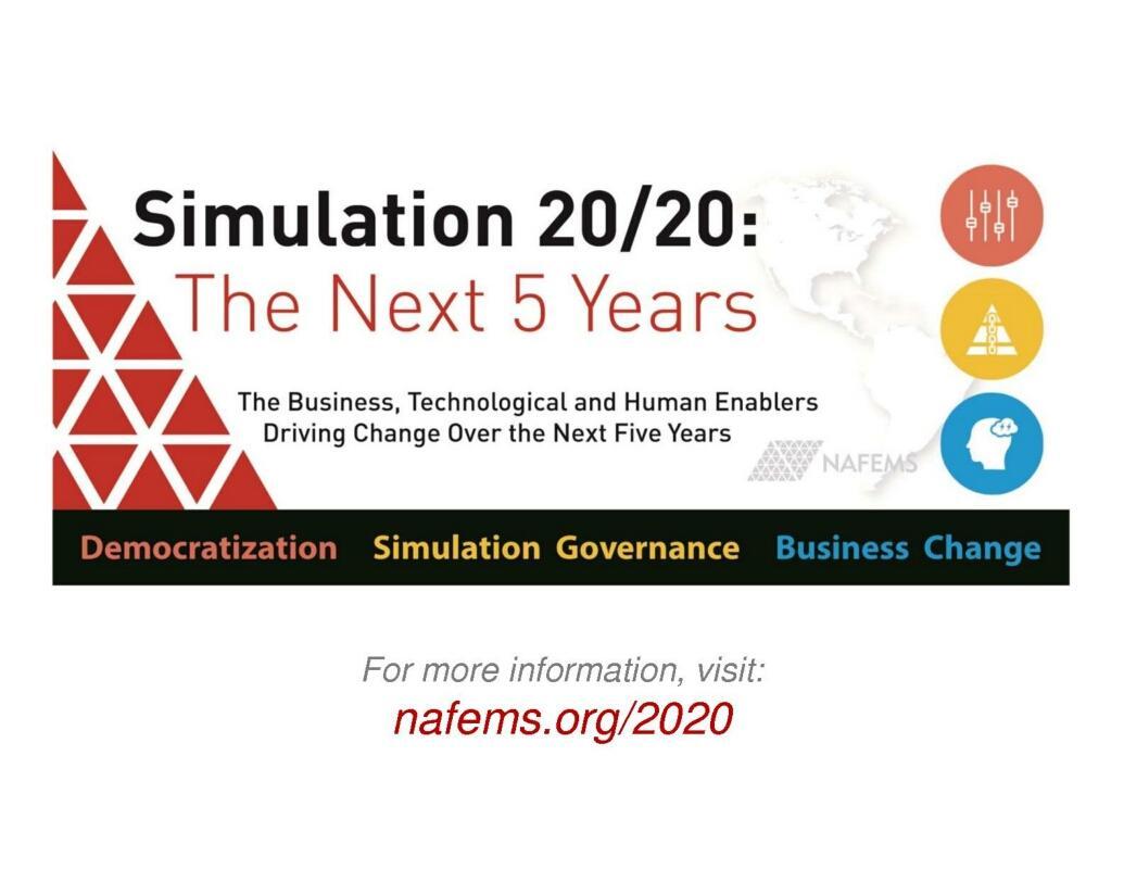NAFEMS 2020 Democratizing CAE