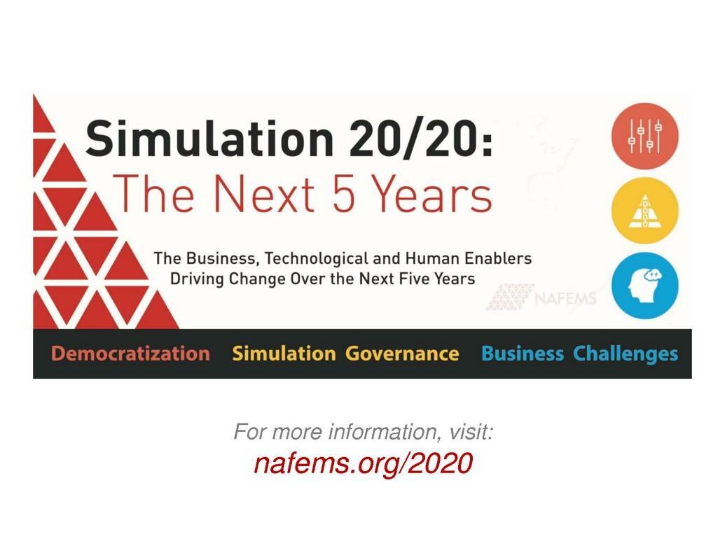 NAFEMS 2020 Usability