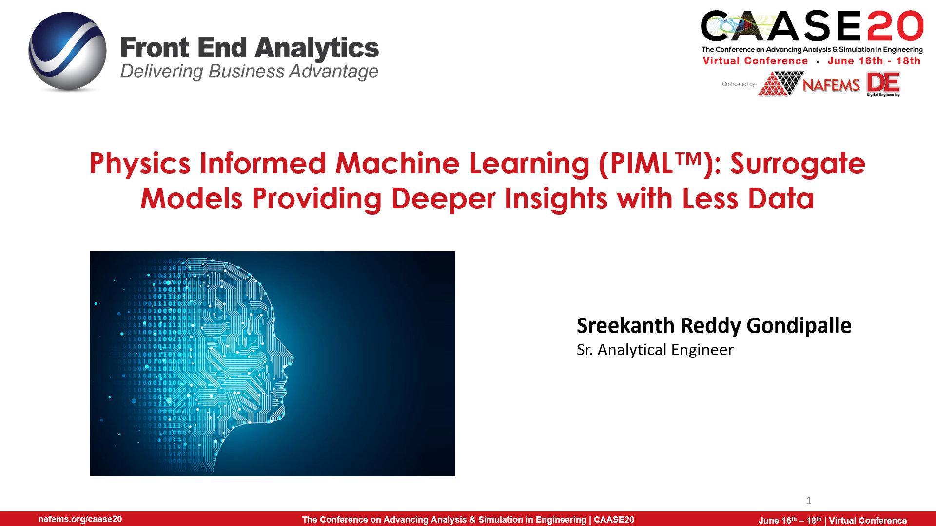 Physics Informed Machine Learning PIML Surrogate Models
