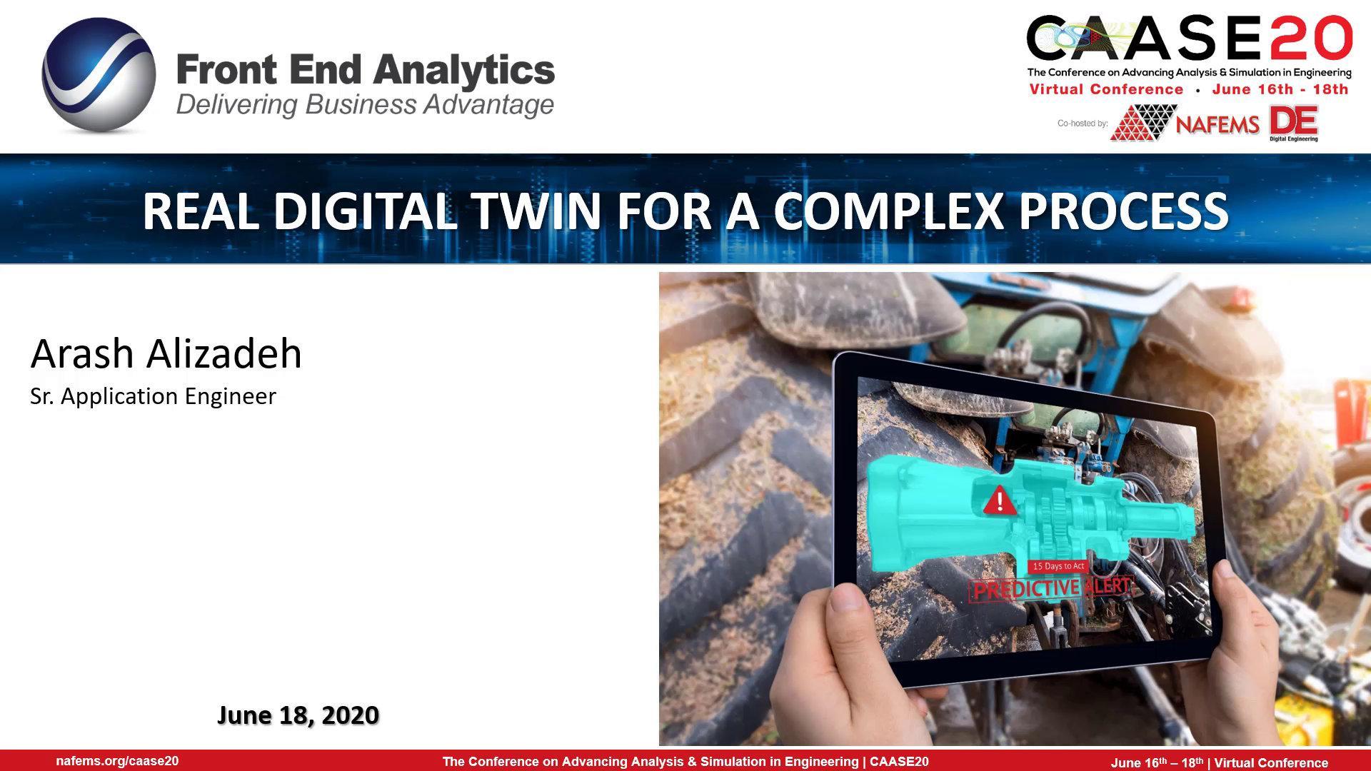 Real Digital Twin for a Complex Process webinar