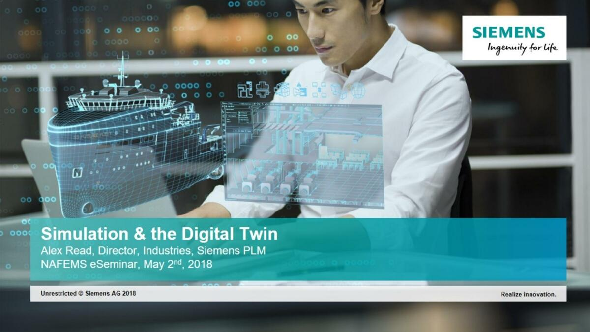 Simulation and The Digital Twin