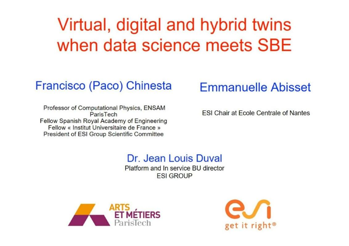 Virtual Digital and Hybrid Twins When Data Science Meets SBE