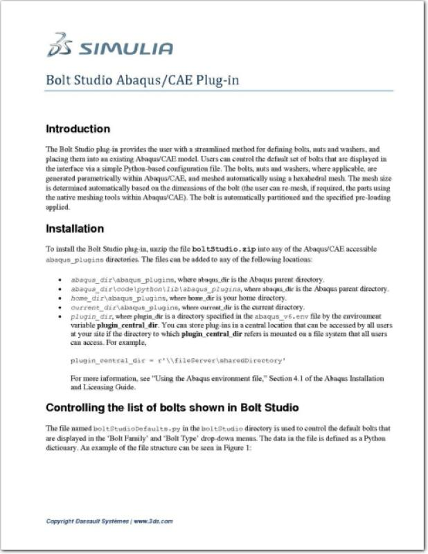 Abaqus Bolt Studio Manual