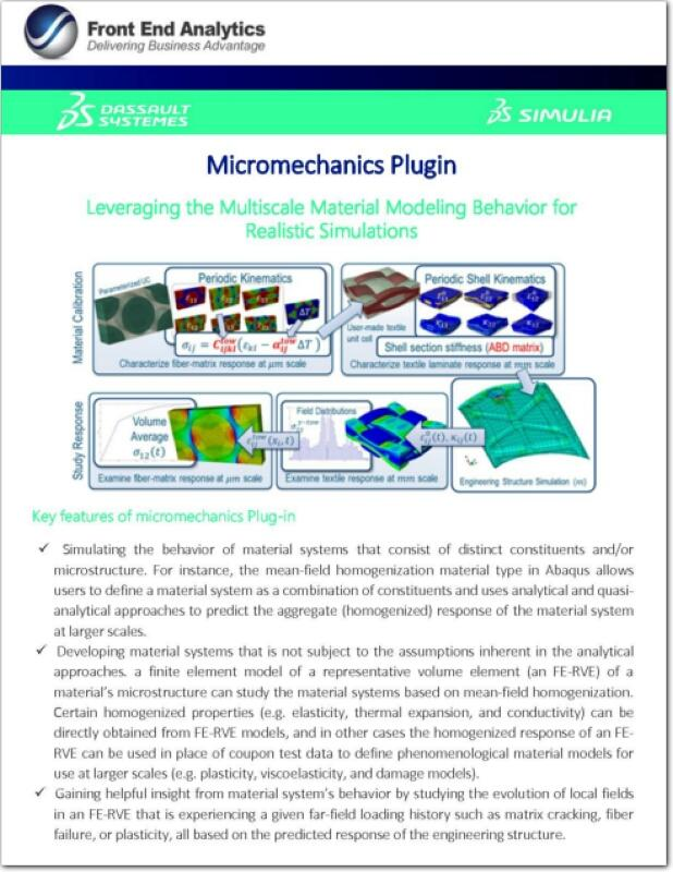 Micromechanics Plug-in Brochure