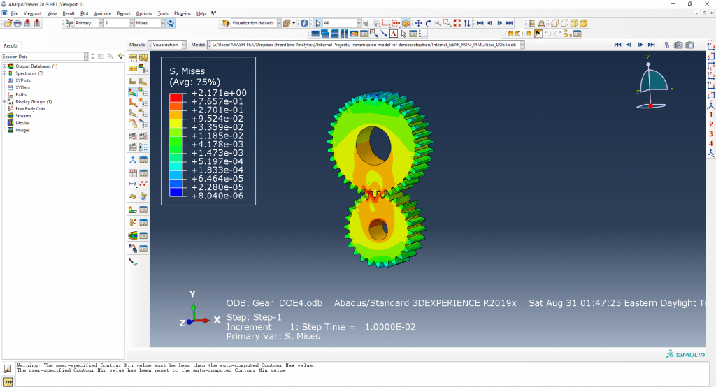 Static Structural Gear Tooth Bending Stress Analysis