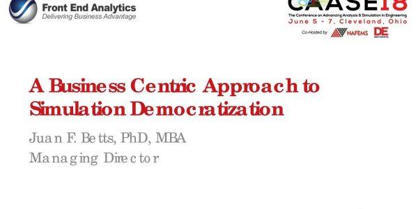 Democratization: A Business Centric Approach